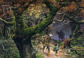 Fifth Day After Weathertop, by Ted Nasmith