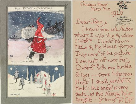 Father Christmas and house 1920