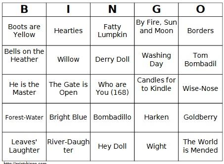 Bombadil Bingo
